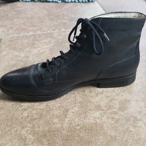 Rockport black lace up booties